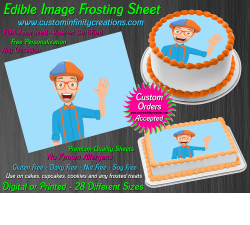 Blippi Edible Image Icing Frosting Sheet #6 Cake Cupcake Cookie Topper