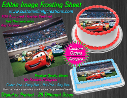 Cars Edible Image Icing Frosting Sheet #1 Cake Cupcake Cookie Topper