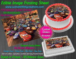 Cars Edible Image Icing Frosting Sheet #2 Cake Cupcake Cookie Topper
