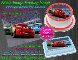 Cars Edible Image Icing Frosting Sheet #33 Cake Cupcake Cookie Topper