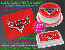Cars Edible Image Icing Frosting Sheet #41 Cake Cupcake Cookie Topper