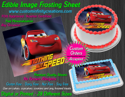 Cars Lightning McQueen Edible Image Icing Frosting Sheet #44 Cake Cupcake Topper
