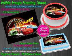 Cars Edible Image Icing Frosting Sheet #62 Cake Cupcake Cookie Topper