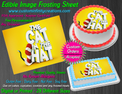 Cat in the Hat Dr Seuss Edible Image Frosting Sheet #11 Cake Cupcake Topper