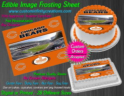 Chicago Bears Edible Image Icing Frosting Sheet #10 Cake Cupcake Cookie Topper