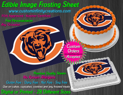 Chicago Bears Edible Image Icing Frosting Sheet #16 Cake Cupcake Cookie Topper