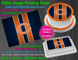 Chicago Bears Edible Image Icing Frosting Sheet #26 Cake Cupcake Cookie Topper