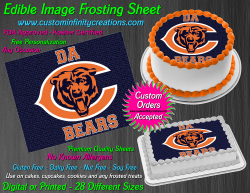 Chicago Bears Edible Image Icing Frosting Sheet #35 Cake Cupcake Cookie Topper
