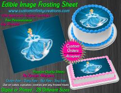 Cinderella Edible Image Icing Frosting Sheet #6 Cake Cupcake Cookie Topper