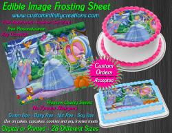 Cinderella Edible Image Icing Frosting Sheet #7 Cake Cupcake Cookie Topper