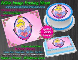 Cinderella Edible Image Icing Frosting Sheet #9 Cake Cupcake Cookie Topper