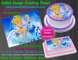 Cinderella Edible Image Icing Frosting Sheet #22 Cake Cupcake Cookie Topper