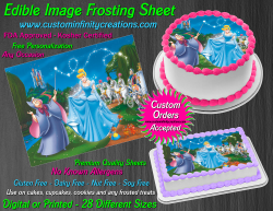 Cinderella Edible Image Icing Frosting Sheet #27 Cake Cupcake Cookie Topper