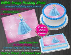 Cinderella Edible Image Icing Frosting Sheet #30 Cake Cupcake Cookie Topper