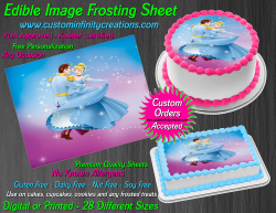 Cinderella Edible Image Icing Frosting Sheet #31 Cake Cupcake Cookie Topper