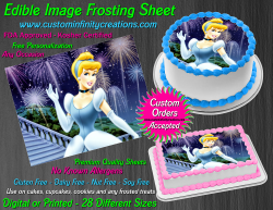 Cinderella Edible Image Icing Frosting Sheet #33 Cake Cupcake Cookie Topper