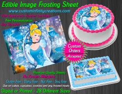 Cinderella Edible Image Icing Frosting Sheet #66 Cake Cupcake Cookie Topper