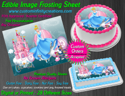 Cinderella Edible Image Icing Frosting Sheet #67 Cake Cupcake Cookie Topper