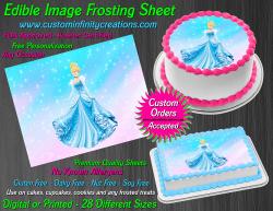 Cinderella Edible Image Icing Frosting Sheet #69 Cake Cupcake Cookie Topper