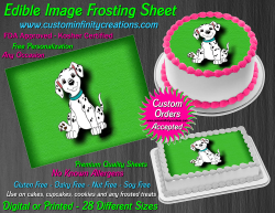 Dalmatians Edible Image Icing Frosting Sheet #7 Cake Cupcake Cookie Topper