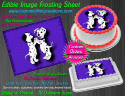 Dalmatians Edible Image Icing Frosting Sheet #9 Cake Cupcake Cookie Topper