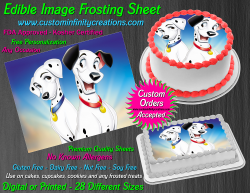 Dalmatians Edible Image Icing Frosting Sheet #16 Cake Cupcake Cookie Topper