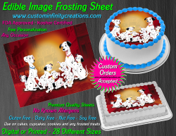 Dalmatians Edible Image Icing Frosting Sheet #18 Cake Cupcake Cookie Topper