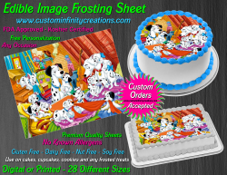 Dalmatians Edible Image Icing Frosting Sheet #21 Cake Cupcake Cookie Topper