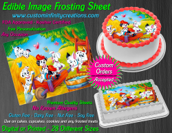 Dalmatians Edible Image Icing Frosting Sheet #23 Cake Cupcake Cookie Topper