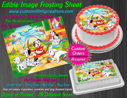 Dalmatians Edible Image Icing Frosting Sheet #25 Cake Cupcake Cookie Topper