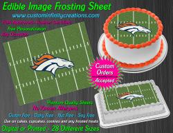 Denver Broncos Edible Image Icing Frosting Sheet #67 Cake Cupcake Cookie Topper