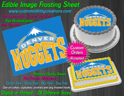 Denver Nuggets Edible Image Icing Frosting Sheet #1 Cake Cupcake Cookie Topper