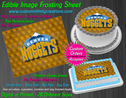 Denver Nuggets Edible Image Icing Frosting Sheet #2 Cake Cupcake Cookie Topper
