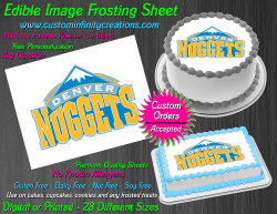 Denver Nuggets Edible Image Icing Frosting Sheet #3 Cake Cupcake Cookie Topper