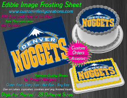 Denver Nuggets Edible Image Icing Frosting Sheet #7 Cake Cupcake Cookie Topper