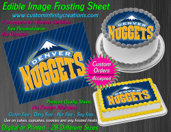 Denver Nuggets Edible Image Icing Frosting Sheet #9 Cake Cupcake Cookie Topper