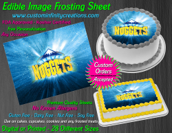 Denver Nuggets Edible Image Icing Frosting Sheet #15 Cake Cupcake Cookie Topper