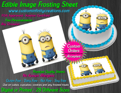 Despicable Me Minions Edible Image Frosting Sheet #3 Cake Cupcake Cookie Topper