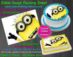Despicable Me Minions Edible Image Frosting Sheet #15 Cake Cupcake Cookie Topper