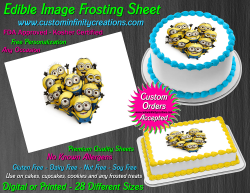 Despicable Me Minions Edible Image Frosting Sheet #29 Cake Cupcake Cookie Topper