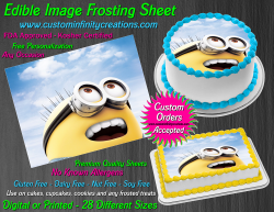 Despicable Me Minions Edible Image Frosting Sheet #34 Cake Cupcake Cookie Topper
