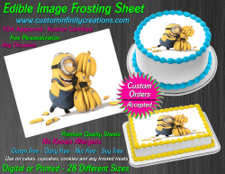 Despicable Me Minions Edible Image Frosting Sheet #40 Cake Cupcake Cookie Topper