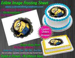 Despicable Me Minions Edible Image Frosting Sheet #44 Cake Cupcake Cookie Topper