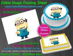 Despicable Me Minions Edible Image Frosting Sheet #60 Cake Cupcake Cookie Topper