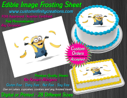 Despicable Me Minions Edible Image Frosting Sheet #77 Cake Cupcake Cookie Topper