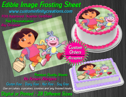 Dora the Explorer Edible Image Frosting Sheet #6 Cake Cupcake Cookie Topper