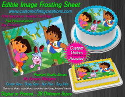 Dora the Explorer Diego Edible Image Icing Frosting Sheet #8 Cake Cupcake Topper