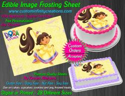 Dora the Explorer Edible Image Frosting Sheet #10 Cake Cupcake Cookie Topper