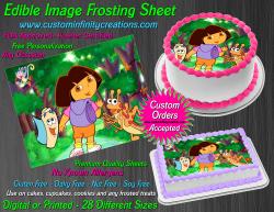 Dora the Explorer Edible Image Frosting Sheet #11 Cake Cupcake Cookie Topper