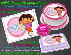 Dora the Explorer Edible Image Frosting Sheet #14 Cake Cupcake Cookie Topper